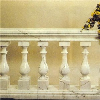 Indoor Hand Rail White Marble Stair Baluster