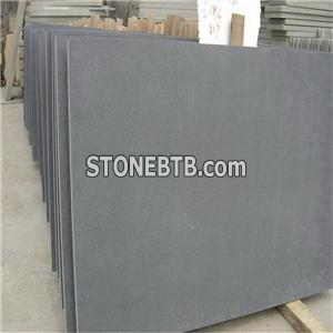 China Natural Honed And Tumbled Dark Gray Green Sandstone Uses Decorative Tiles