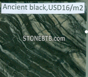 ancient black marble