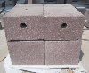 ShouNing Red granite cube stone