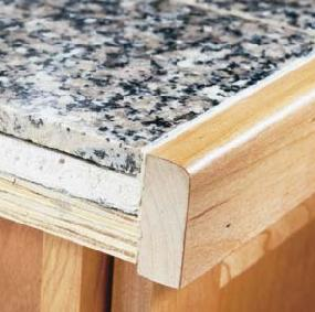 How to Install Granite Tile Kitchen Countertops - Info ...