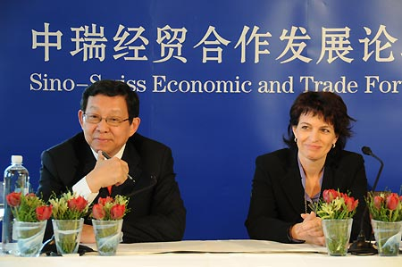 China inks trade deals with Swiss companies