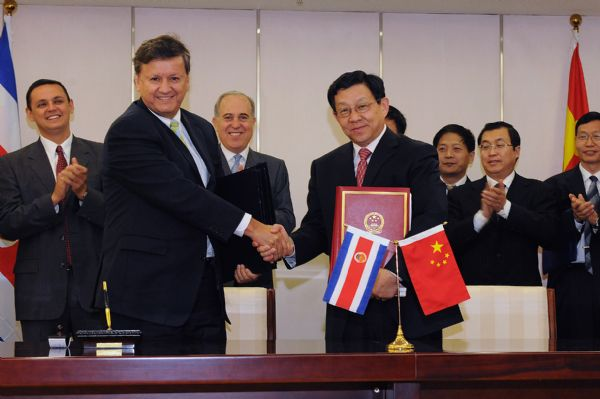 China Costa Rica ink free trade agreement