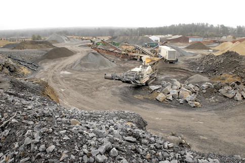 Quarry project starts though demand lags