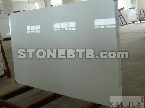 White Crystallized Glass Stone