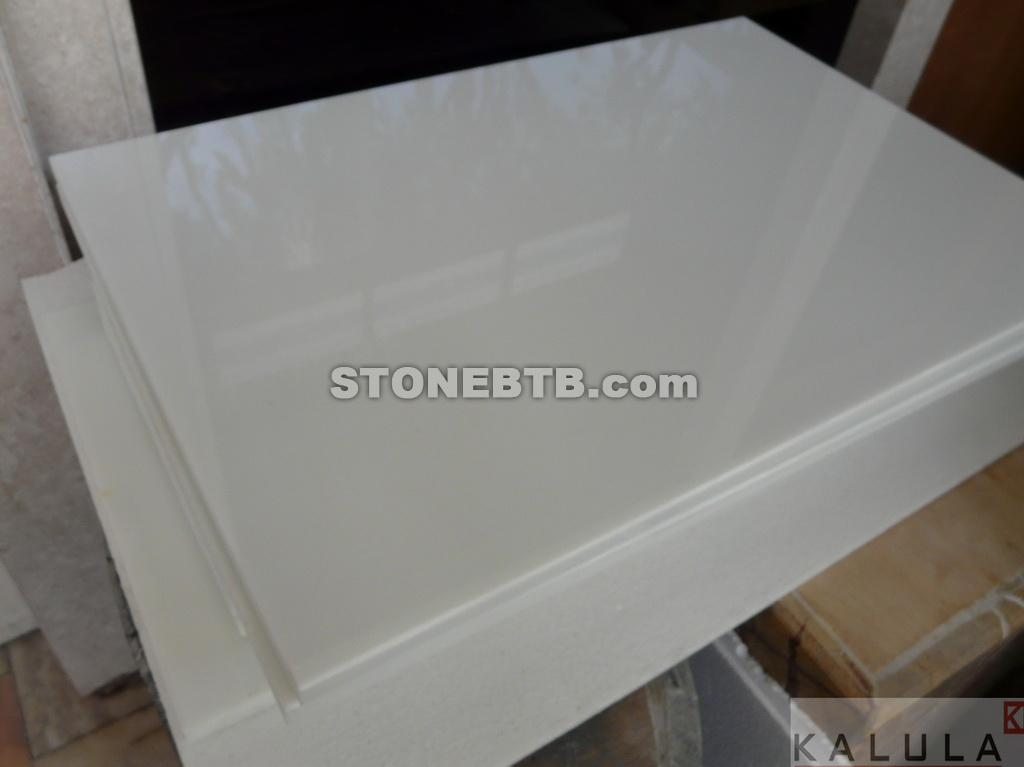 White Crystal Stone Crystal Glass White Panel