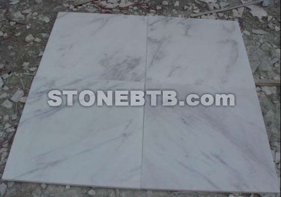 Chinese Statuary White Marble Tile