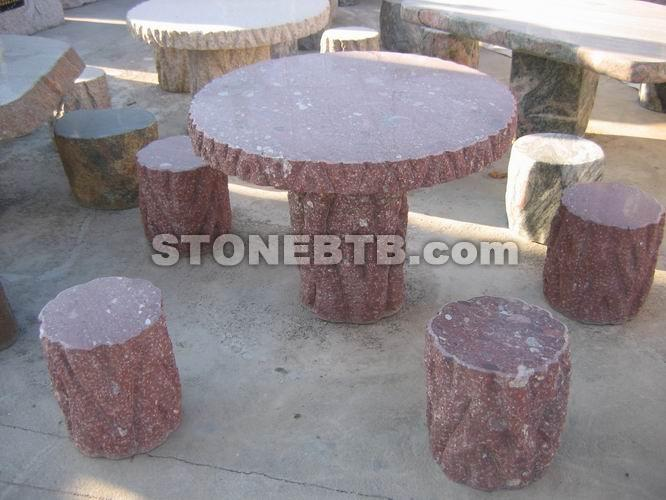 Garden Stone Table & Chair