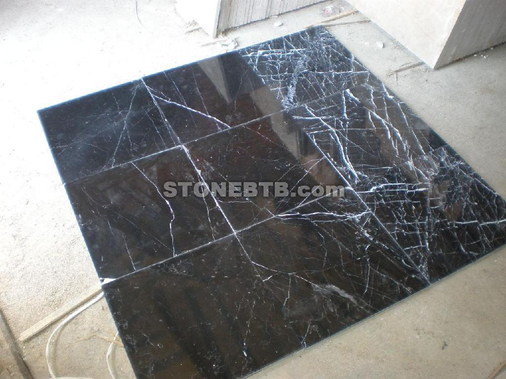 Nero Marquina, Black Marble, Marble Tile