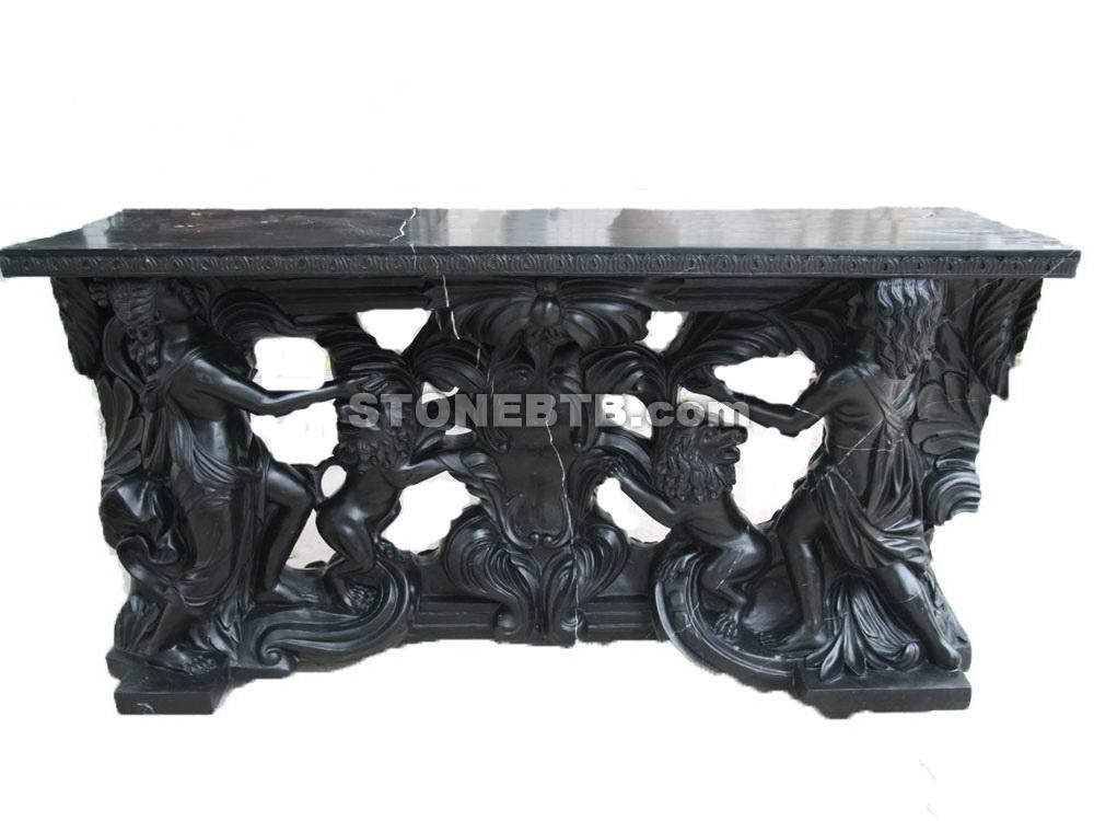 Stone Black Bar Counter