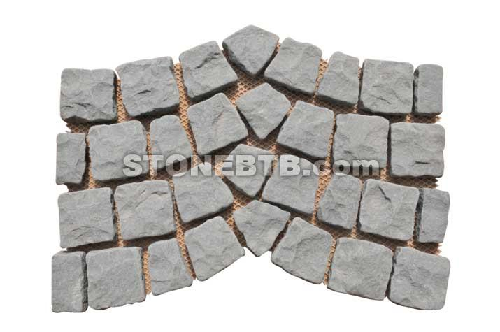 Porphyry Red Random Paving Stone On Mesh