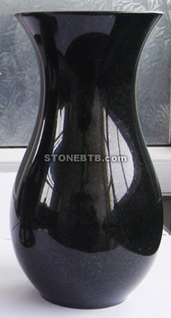 Shanxi Black Jardiniere and Vase, Black Granite, Jardiniere, Vase