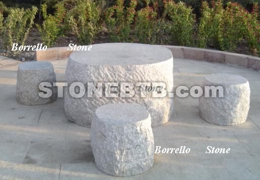 stone table bench