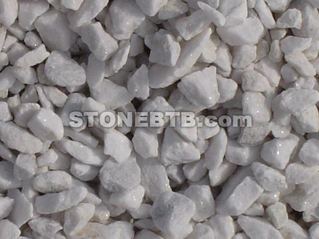 White Crushed Stone : White marble gravel and crushed stone supply of