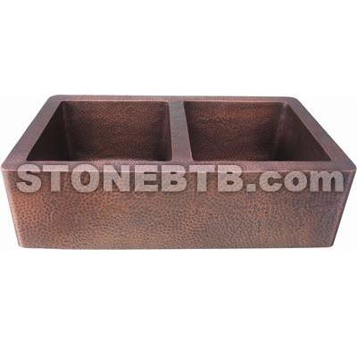 Double Bowl Kitchen Copper Sink