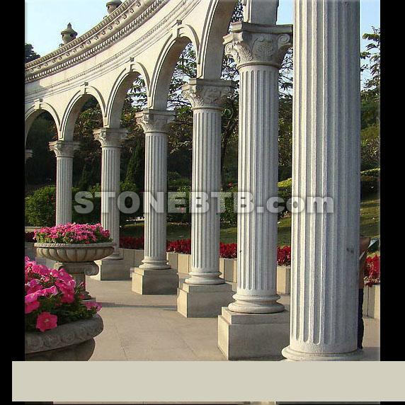 Grey Stone Pillars : Gray stone granite column pillars supply of