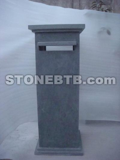 Blue Limestone Letter Box
