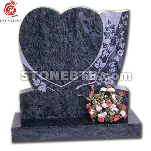 Bahama Blue Granite Memorials with Vase