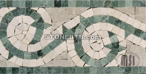 Border (Green & White Marble)