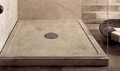 Attractive Sand Shower Tray In Classic Travertine
