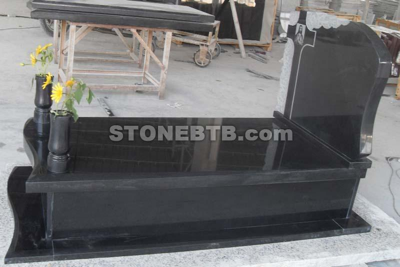Granite Shanxi Black Tombstone