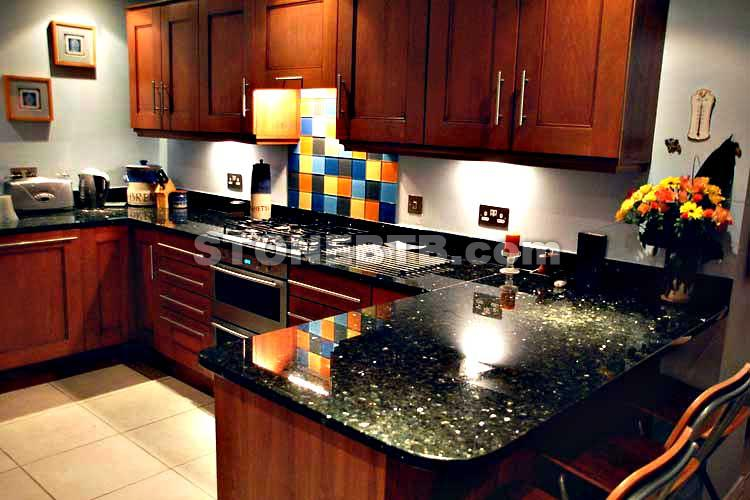 Granite Emerald Pearl Kitchen Countertop Supply Of