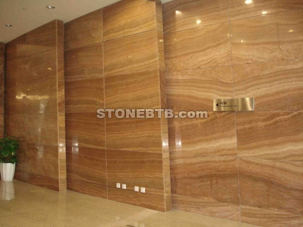 Yellow Wood Vein Marble Wall Tiles