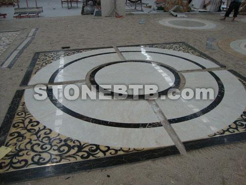 Marble Pattern, Water Jet Cutting Mosaic,High End Flooring